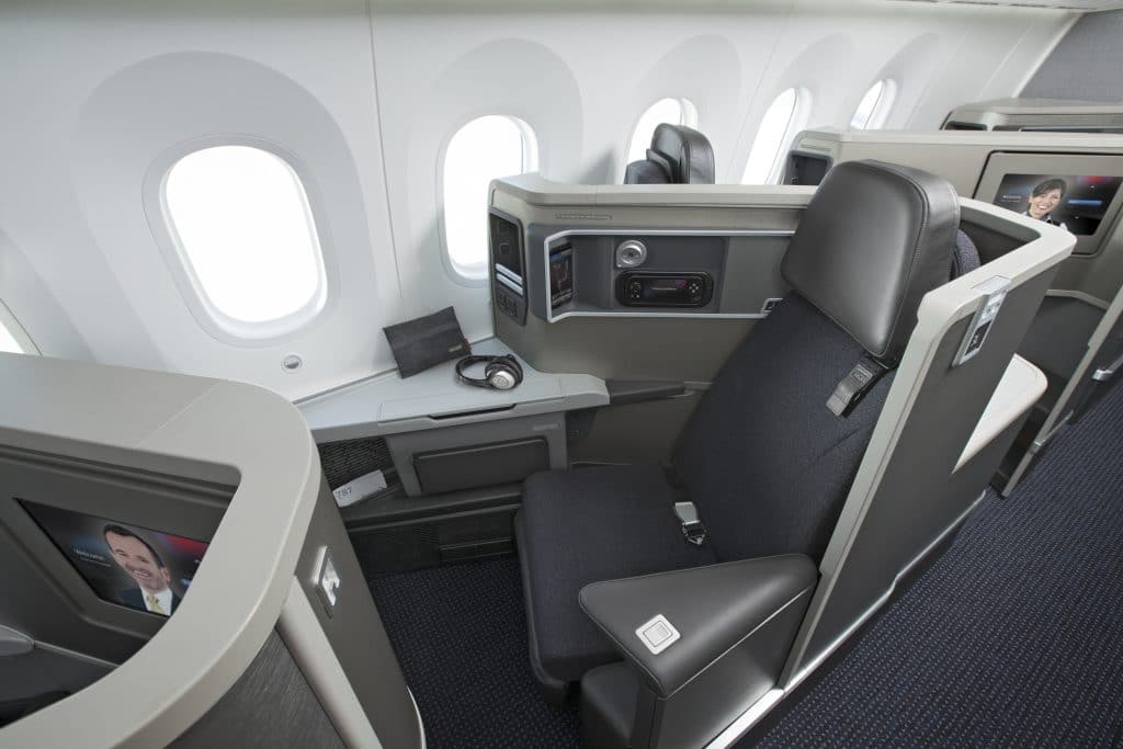 Aircraft Interiors AA787 Business Class SeatUp Bose NoPassenger
