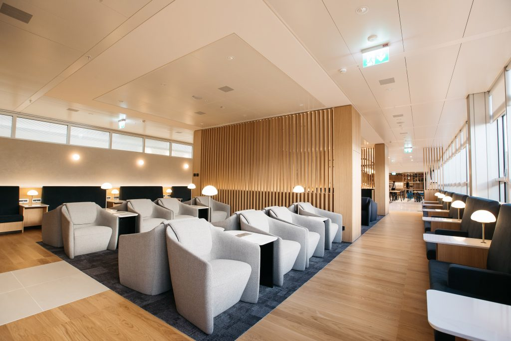 Oneworld British Airways Lounge Genf Schweiz Pressefoto 7