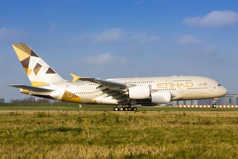A380 Etihad On The Ground