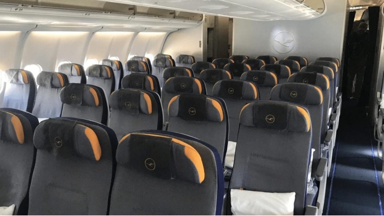 Sitzreihen Lufthansa