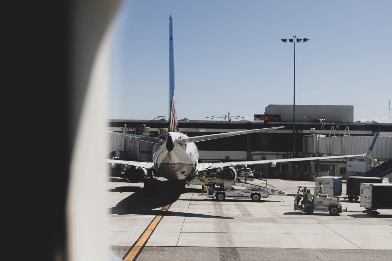 Flughafen Flugzeug Fenster Ausblick