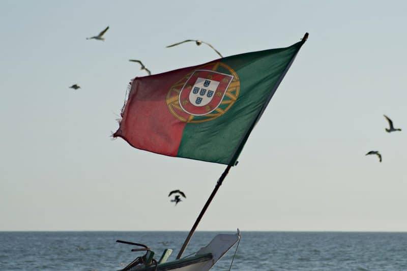 Portugal Flagge Meer