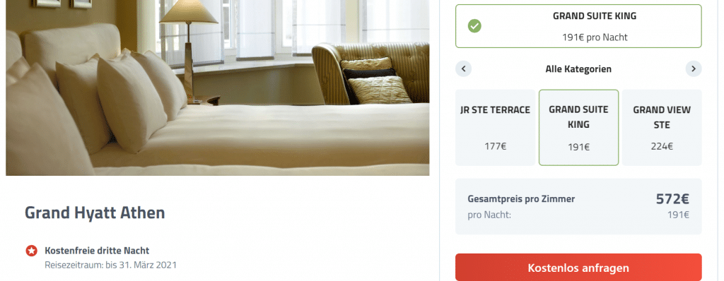 Grand Hyatt Athen Suite