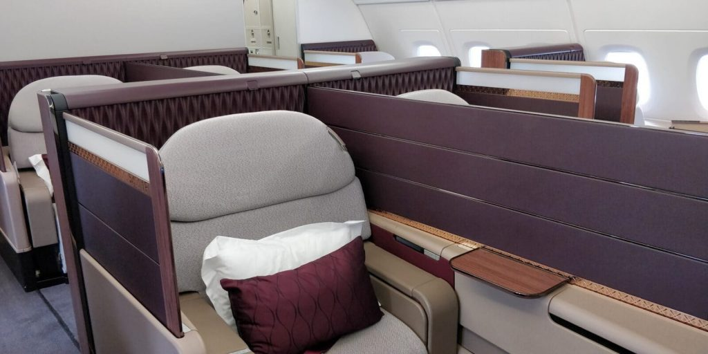 Qatar Airways First Class Airbus A380 Sitz