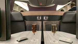 Qatar Airways Qsuite Cahmapgner