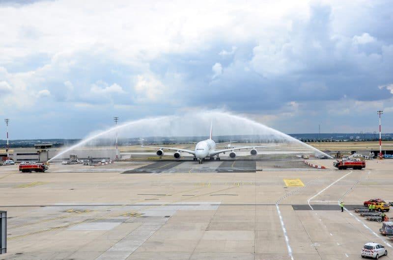Emirates A380 Paris