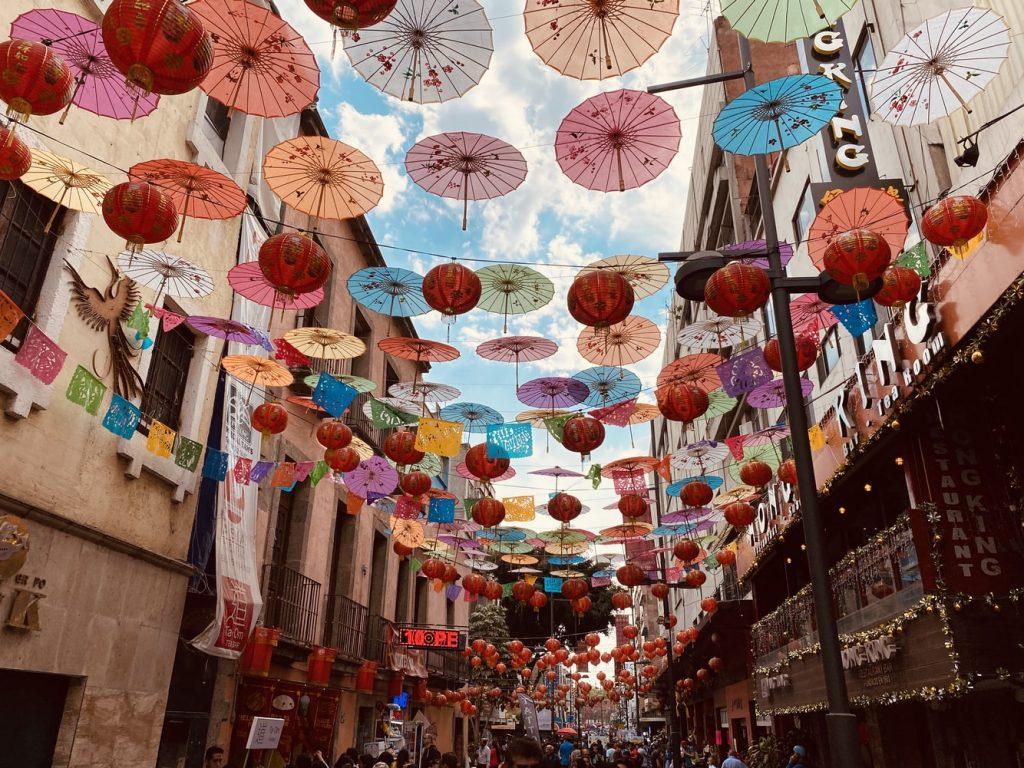 Mexiko City Regenschirme Stadt
