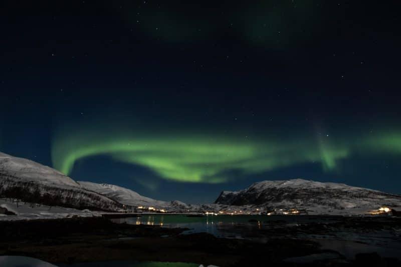 Norwegen Nacht Nordlichter