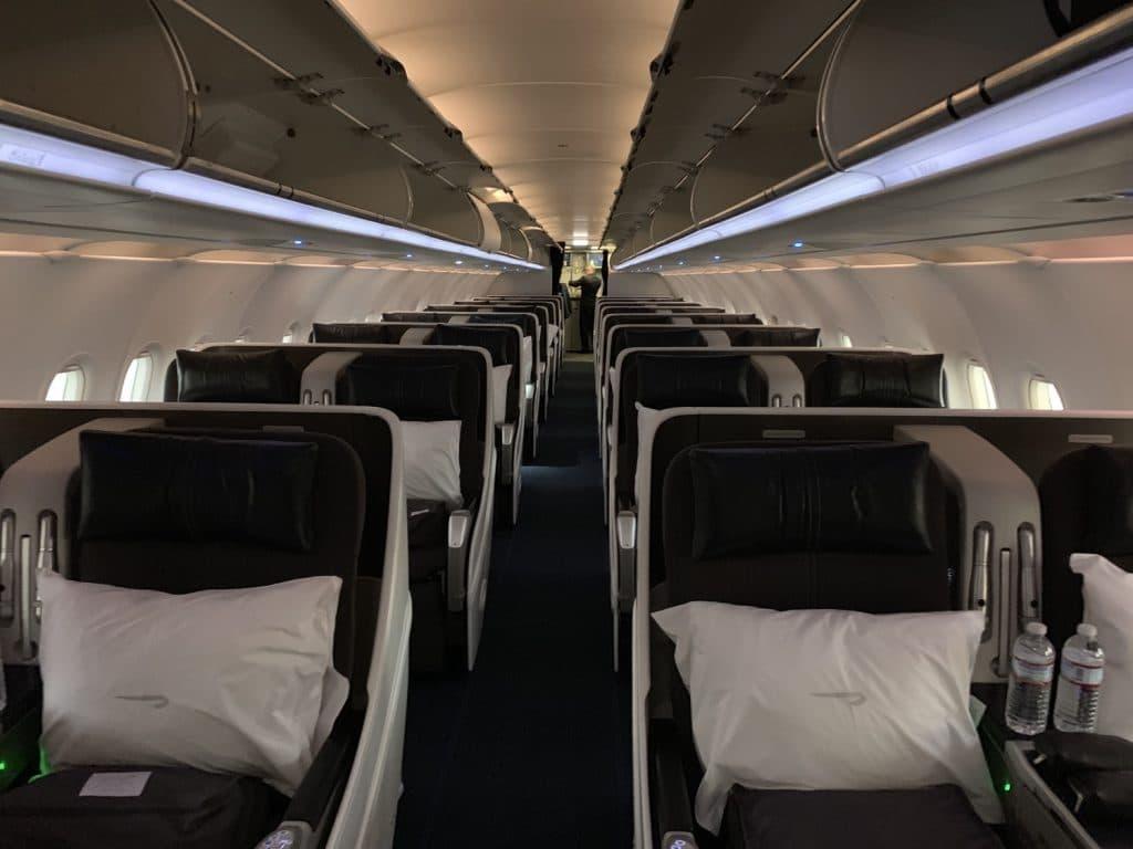 British Airways Airbus A318 Business Class Kabine