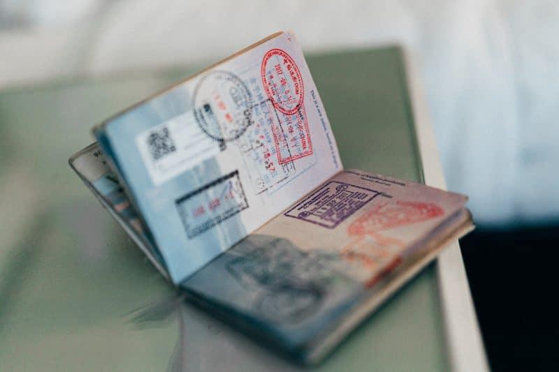 Reisepass Visa Stempel