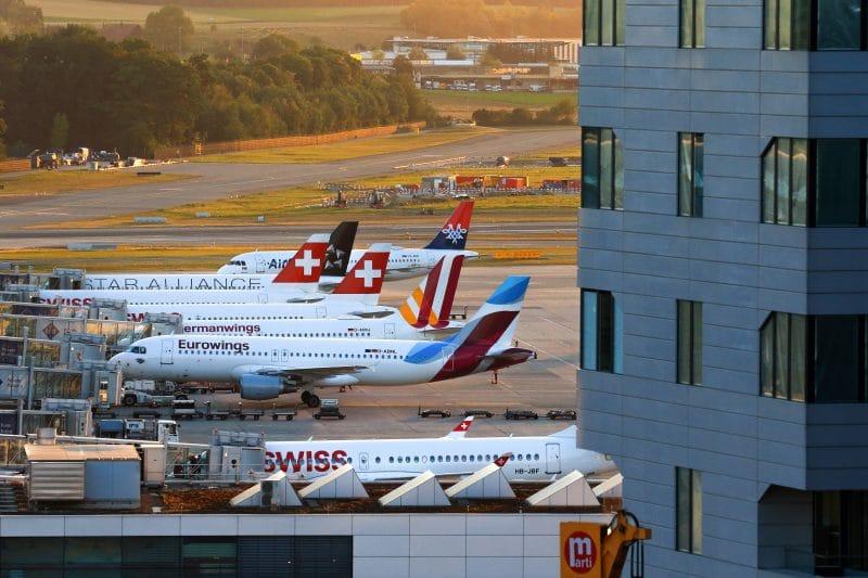 Grounding Zurich Airport Swiss Lufthansa