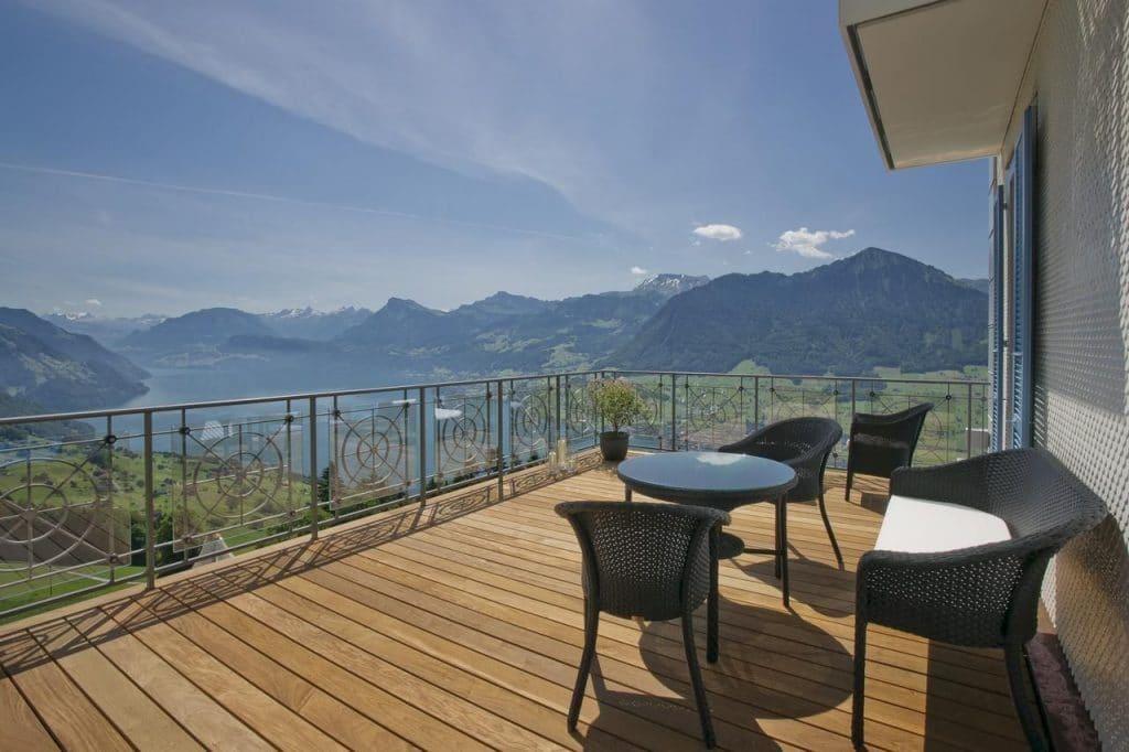 Hotel Villa Honegg Aussicht Terasse 1024x682