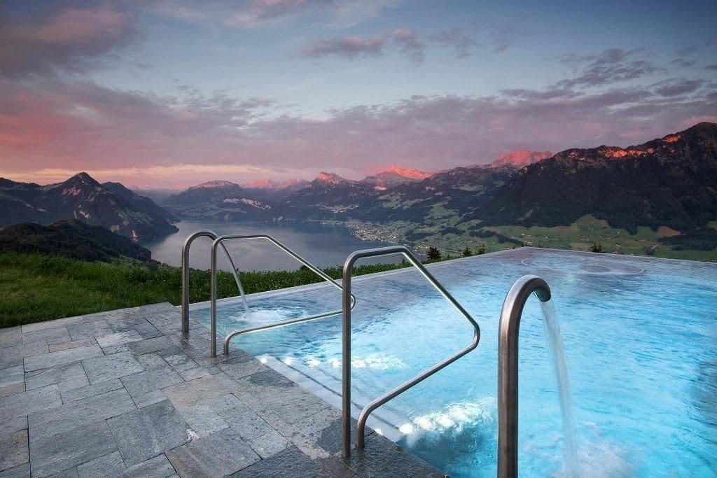 Hotel Villa Honegg Pool 1024x683