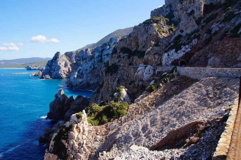 Sardinien Felsenküste Ausblick Italien
