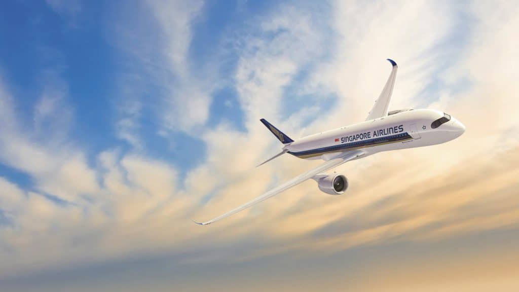 Singapore Airlines Sunset 1