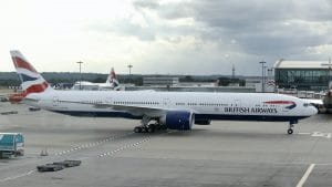 British Airways 777 Boeing