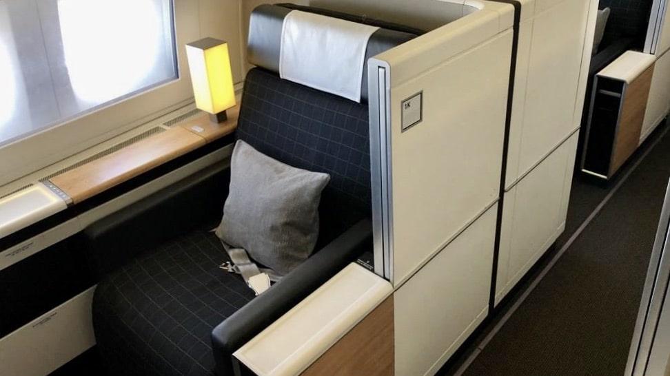 Swiss First Class Seat