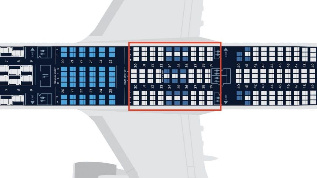 Delta A350 Seat Map Neu