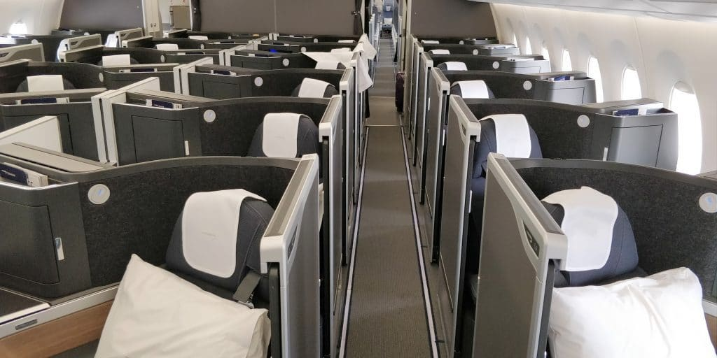 British Airways Business Class Airbus A350 Kabine 1024x512