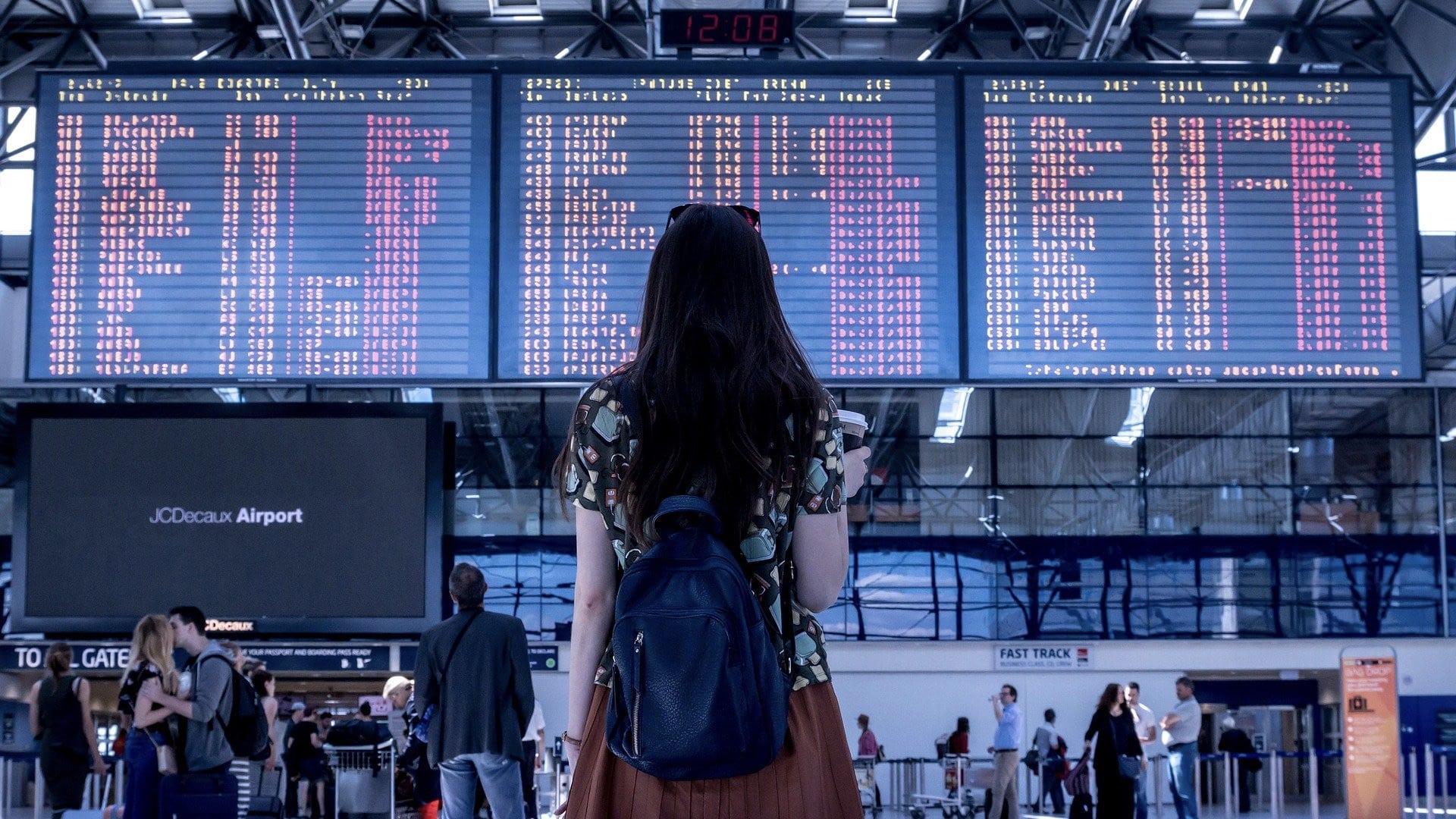 Flughafen Person Freiheit