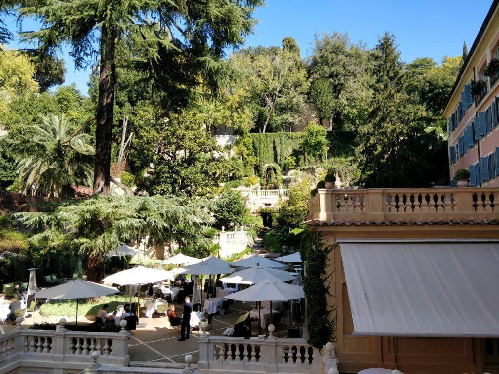 Hotel De Russie Rom Balkon Aussicht 1024x768