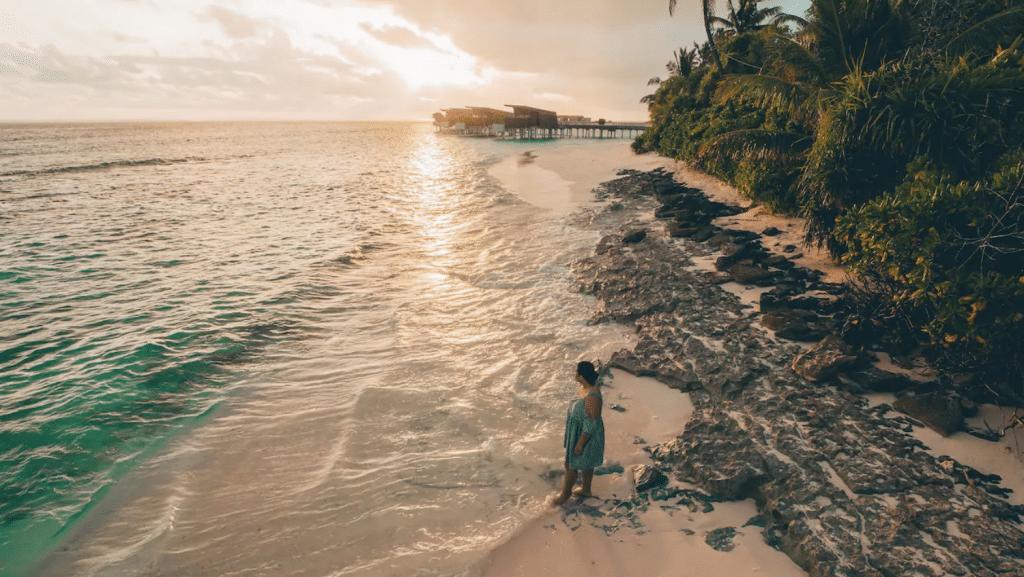 Park Hyatt Maldives Sonnenuntergang