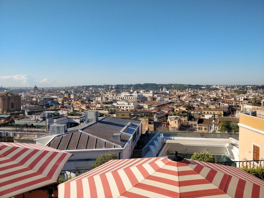 Rocco Forte Hotel De La Ville Rom Dachterrasse Ausblick 2 1024x768
