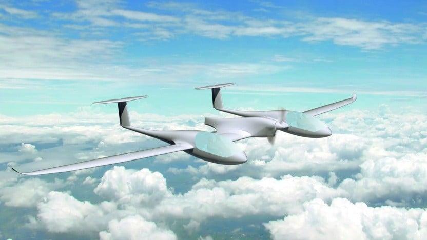 Brennstoffzellenflugzeug Hy4 in der Luft