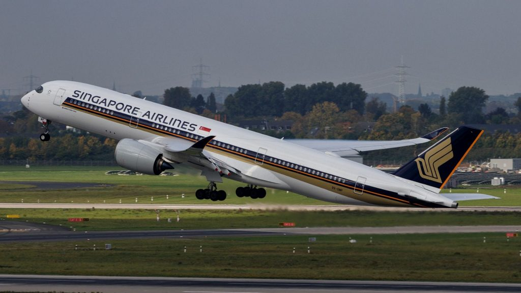 Singapore Airlines Airbus A350 Start