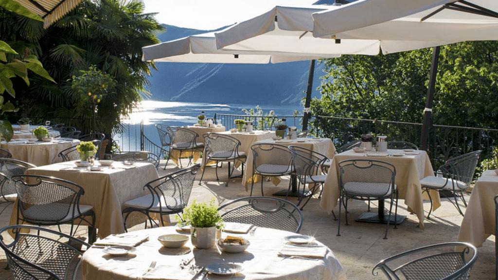 Villa Principe Lugano Terrasse