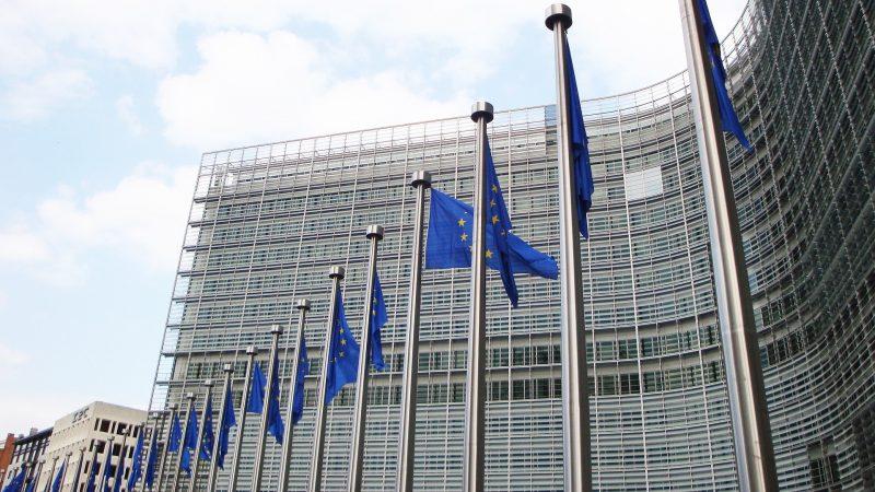 Europäische Kommsission Bild. Europa Flagge 1 Cropped