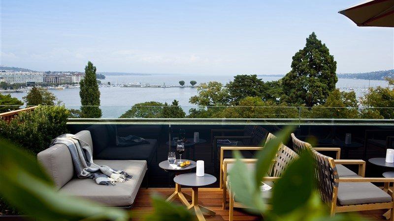 Luxushotel Genf Rooftop