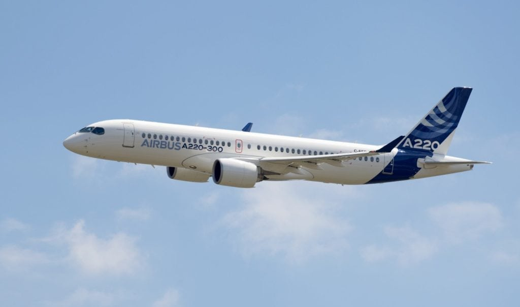 Airbus A220 300 New Member Of The Airbus Single Aisle Family E1531289665103 1024x604
