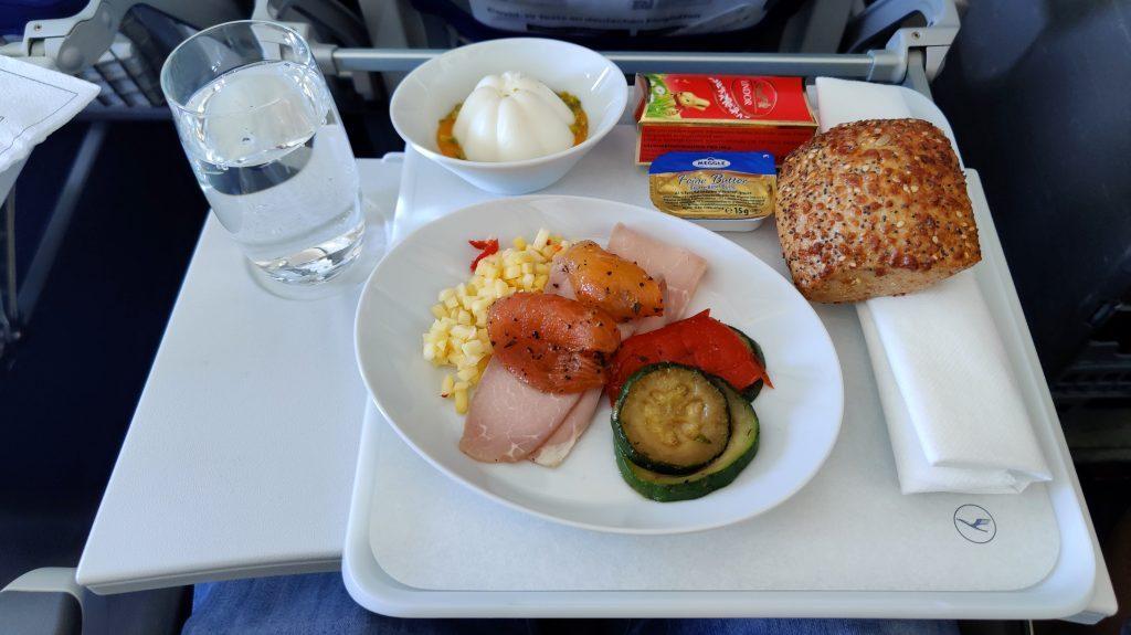 Lufthansa Business Class Mittagessen Europa 1024x575