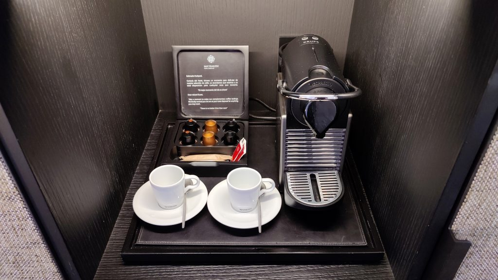Sant Francesc Hotel Singular Palma De Mallorca Zimmer Kaffeemaschine 1024x575