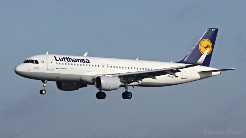 Lufthansa Airbus A320 Landeanflug 800x450