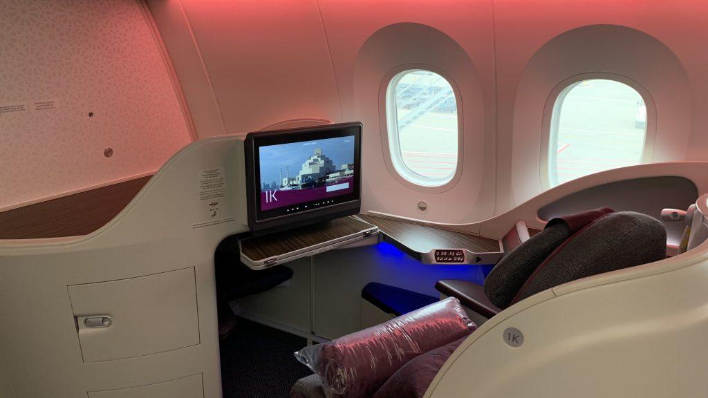 Qatar Airways 787 Business Class Sitz 2 1024x576