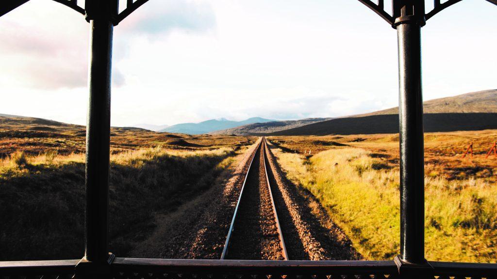 Aussicht über Schottland auf der Freiluftterrasse des Belmond Royal Scotsman