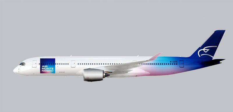 Air Montenegro Neue Livery Lackierung