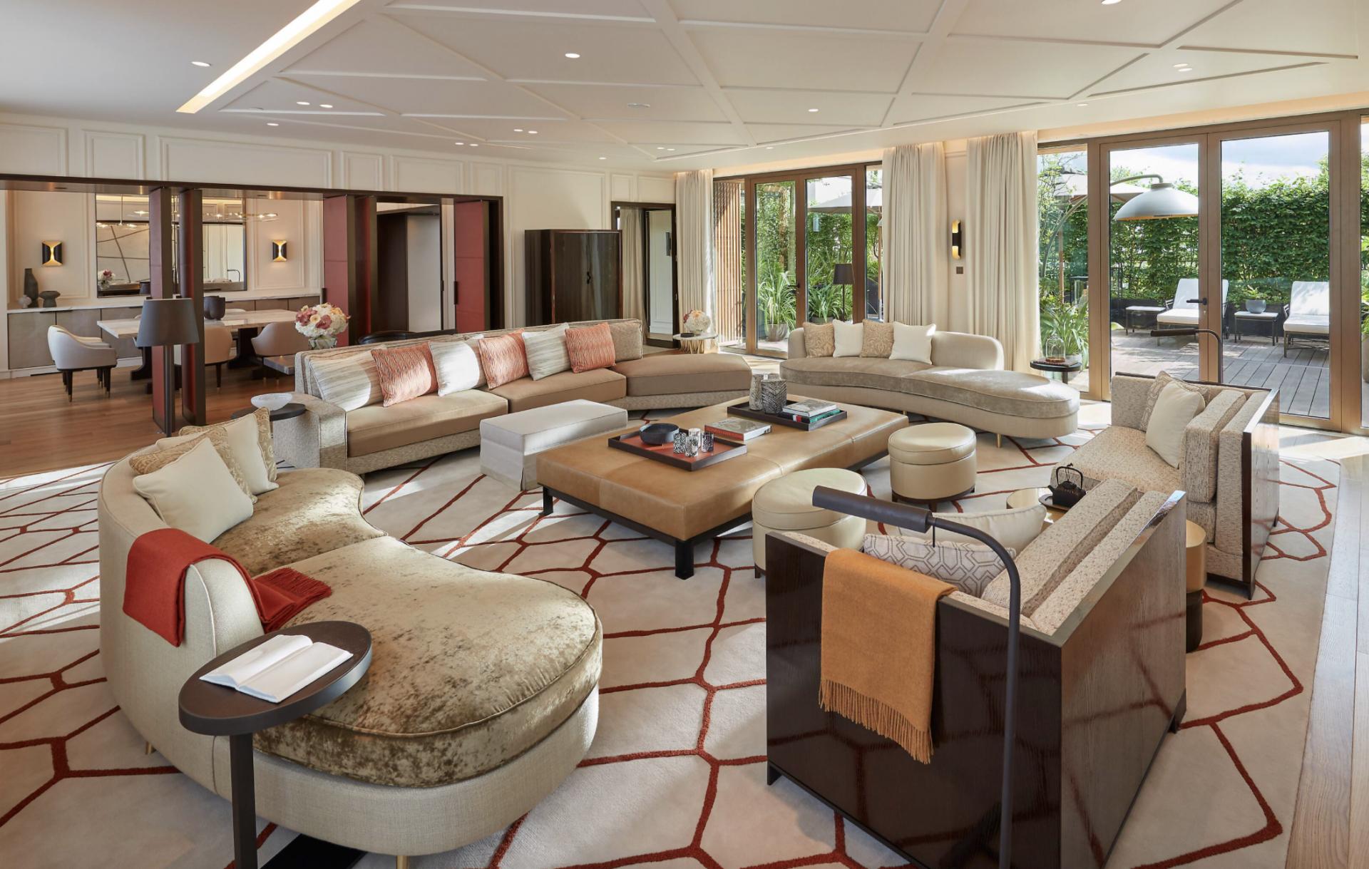 Mandarin oriental Paris, suite Wohnzimmer