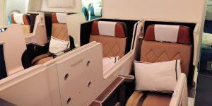Oman Air Business Class Airbus A330 Sitz 11