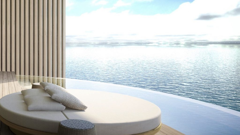 Ritz Carlton Malediven Feri Inseln Wasservilla Terrasse