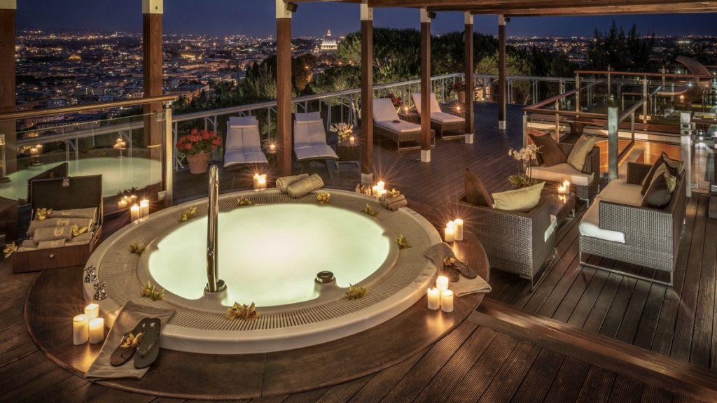 Waldorf Astoria Rom Dachterrasse Der Planetarium Suite