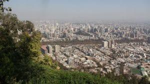 Cerro San Cristobal Santiago De Chile Ausblick Cropped
