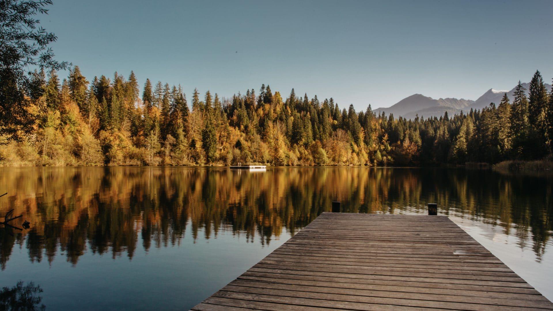 Herbst Schweiz Crestasee GR
